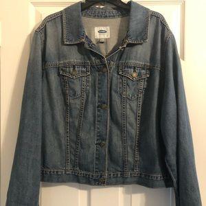 Old Navy Medium Wash Denim Jean Jacket Size XXL